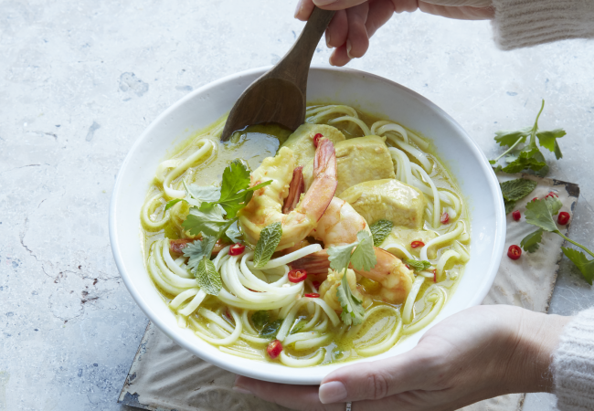 Delicious Home Recipe: Chicken and Prawn Laksa